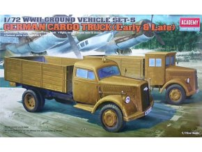 Academy auto German Cargo Truck Early & Late 1:72 13404