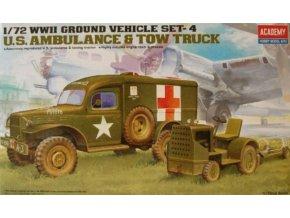 Academy auto U.S. Ambulance & Tow Truck 1:72 13403
