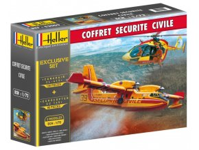 Heller Canadair CL-415 a Eurocopter EC 145 model-set 1:72 53009