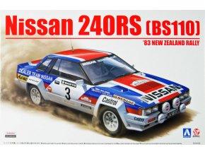 Aoshima NISSAN 240RS 83 New Zealand Rally 1:24 85790