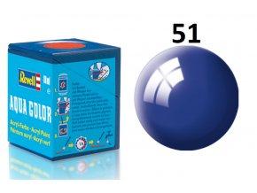 Revell barva akrylová - 36151: leská ultramarínová modrá (ultramarine-blue gloss)