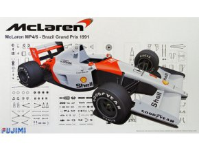 Fujimi McLaren MP4/6  Brazil GP 1991 1:20 091693
