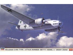 Hasegawa G4M1 Type 1 (Betty) Green Cross 1:72 02167
