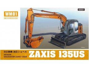 Hasegawa rypadlo Hitachi Bagger Zaxis 135US 1:35 66001