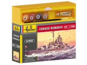 Heller CUIRASSE BISMARCK model set 1:2000 49051