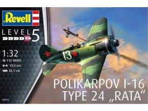 Revell letadlo Polikarpov I-16 type 24 Rata 1:32 03914