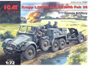 ICM Krupp L2H143 Kfz.69 with PaK-36 gun 1:72 72461