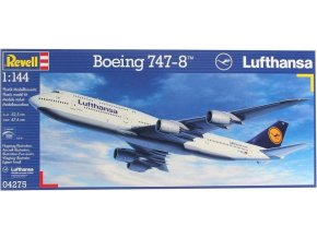 Revell letadlo Boeing 747-8 LUFTHANSA 1:144 04275