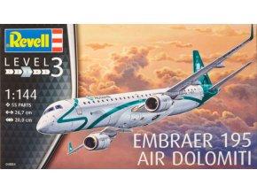 Revell letadlo Embraer 195 Air Dolomiti 1:144 04884
