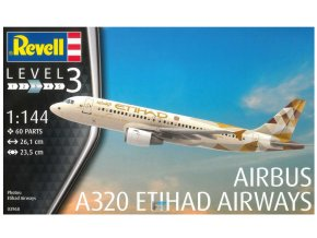 Revell letadlo Airbus A320 Etihad 1:144 03968