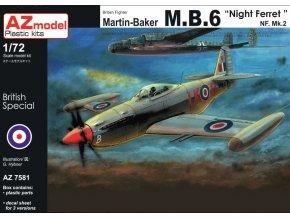 AZ model Martin Baker MB.6 NF.Mk.II Night Ferret 1:72 AZ 7581
