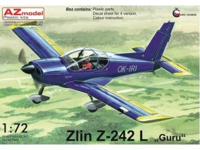 AZ model Zlin Z-242L Guru Civil service 1:72 AZ 7609