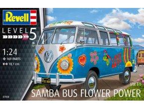 Revell VW T1 Samba Bus Flower Power 1:24 07050