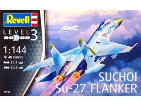 Revell letadlo Suchoi Su-27 Flanker 1:144 03948