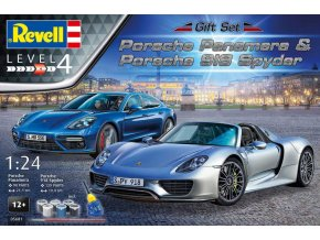 Revell Porsche Panamera, 918 Spyder Set 1:24 05681