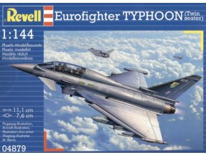 Revell letadlo Eurofighter Typhoon Twinseater 1:144 04879