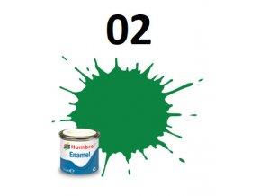 Humbrol barva emailová 02 Emerald - Gloss