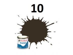 Humbrol barva emailová 10 Service Brown - Gloss
