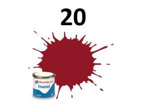 Humbrol barva emailová 20 Crimson - Gloss