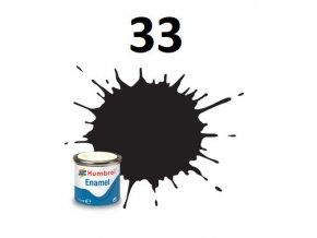 Humbrol barva emailová 33 Black - Matt
