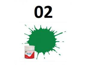 Humbrol barva akryl 02 Emerald - Gloss