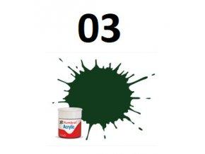 Humbrol barva akryl 03 Brunswick Green - Gloss