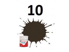 Humbrol barva akryl 10 Service Brown - Gloss