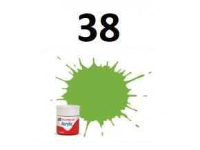 Humbrol barva akryl 38 Lime - Gloss