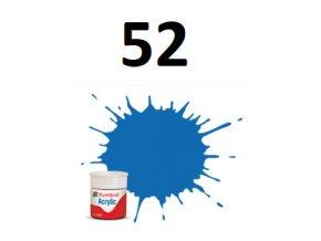 Humbrol barva akryl 52 Baltic Blue - Metallic