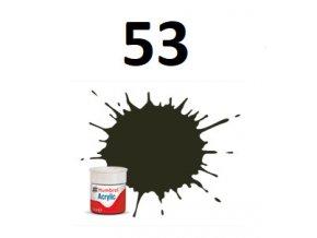 Humbrol barva akryl 53 Gunmetal - Metallic