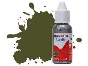 Humbrol barva akryl 155 Olive Drab - Matt