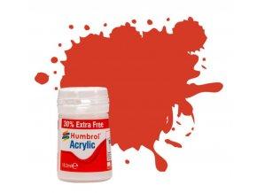Humbrol barva akryl 174 Signal Red - Satin