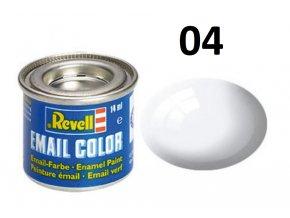 Revell barva emailová - 32104: leská bílá (white gloss)