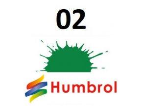 Humbrol barva (02) emailová, akrylová Emerald - Gloss