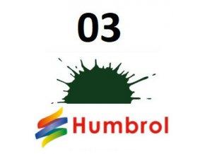 Humbrol barva (03) emailová, akrylová, sprej  Brunswick Green - Gloss