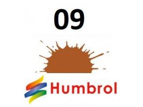 Humbrol barva (09) emailová, akrylová Tan - Gloss