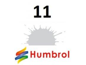 Humbrol barva (11) emailová, akrylová, sprej Silver - Metallic