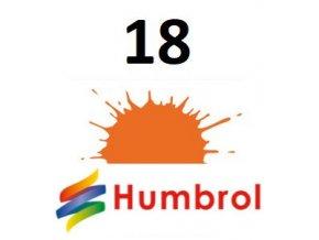Humbrol barva (18) emailová, akrylová, sprej Orange - Gloss