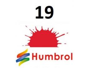 Humbrol barva (19) emailová, akrylová nebo sprej Bright Red - Gloss
