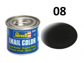 Revell barva emailová - 32108: matná černá (black mat)
