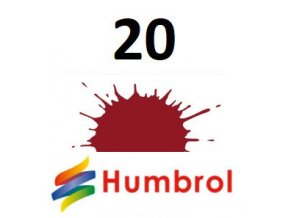 Humbrol barva (20) emailová, akrylová Crimson - Gloss