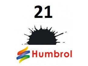 Humbrol barva (21) emailová, akrylová, sprej Black - Gloss
