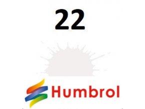 Humbrol barva (22) emailová, akrylová, sprej White - Gloss
