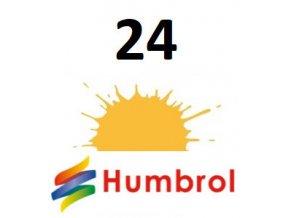 Humbrol barva (24) emailová, akrylová Trainer Yellow - Matt
