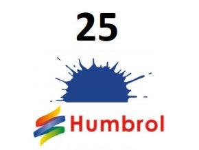 Humbrol barva (25) emailová, akrylová Blue - Matt