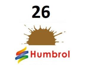 Humbrol barva (26) emailová, akrylová Khaki - Matt