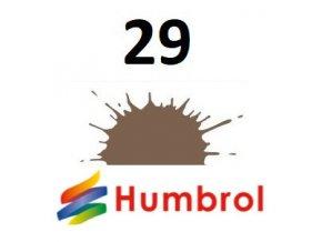 Humbrol barva (29) emailová, akrylová, sprej Dark Earth - Matt
