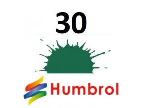 Humbrol barva (30) emailová, akrylová, sprej Dark Green - Matt