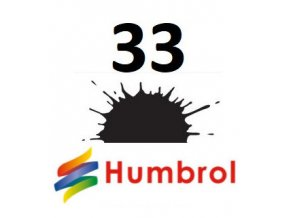 Humbrol barva (33) emailová, akryl, sprej Black - Matt