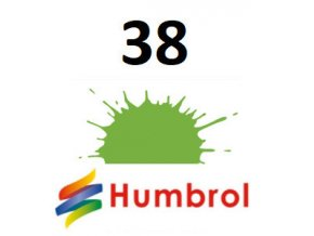 Humbrol barva (38) emailová, akrylová, sprej Lime - Gloss